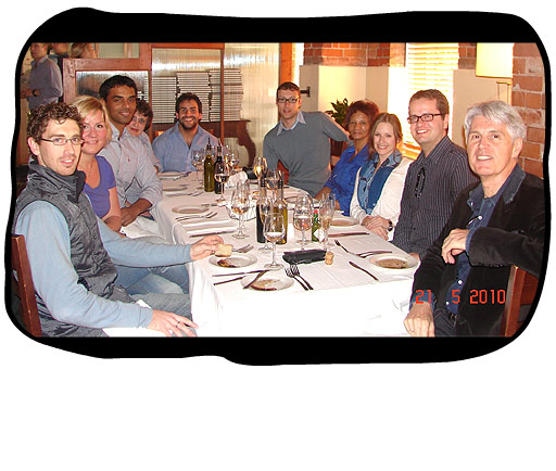 Johan's Birthday: From left to right > Simon, Andrea, Paul, Monica, Eddie, Henk, Anne, Marli, Johan, Philip.