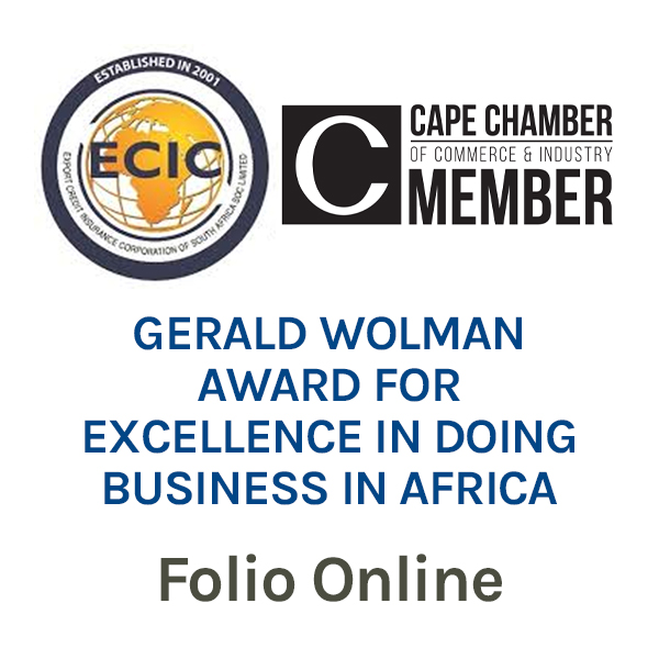 Gerald Wolman Award for Excellence in doing Business in Africa